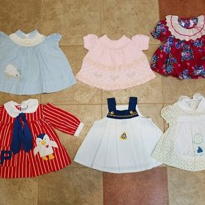 Other - 6 Vintage Infant Dresses; Sizes 3 -12 mo